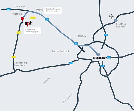 Anfahrt Werk Augsburg