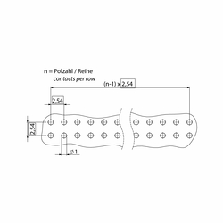 flexilink b-t-b Leiterplattenverbinder zweistufig Abmessung3