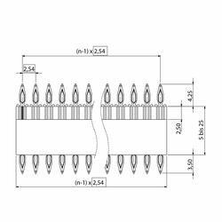 flexilink b-t-b Leiterplattenverbinder zweistufig Abmessung1