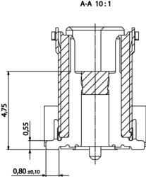 Colibri Plug 8mm Schnitt