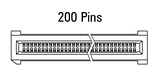 Dimensions EC.8 straight 200 pins