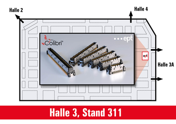 Hallenplan der embedded world 2020