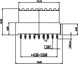 Velox 16-left Abmessungen